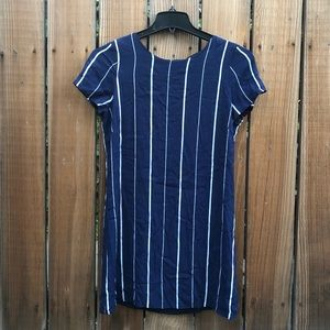 Lulu's navy blue nautical striped shift dress M